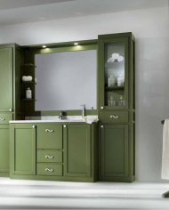 mobilier-de-baie-din-lemn-masiv-verde